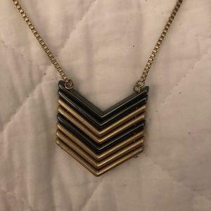 Long herring bone necklace